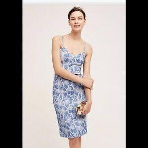Anthropologie Portia Dress -HD Paris Blue Motif